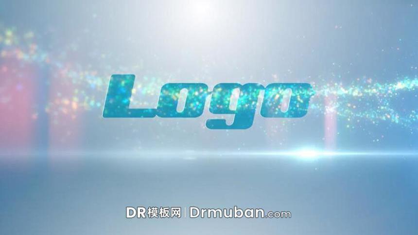 DR模板 达芬奇模板 粒子飞舞LOGO扫光特效DaVinci Resolve模板-DR模板网