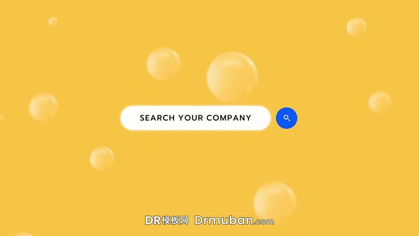 达芬奇模板 网页网站品牌关键词搜索LOGO展示达芬奇片头模板