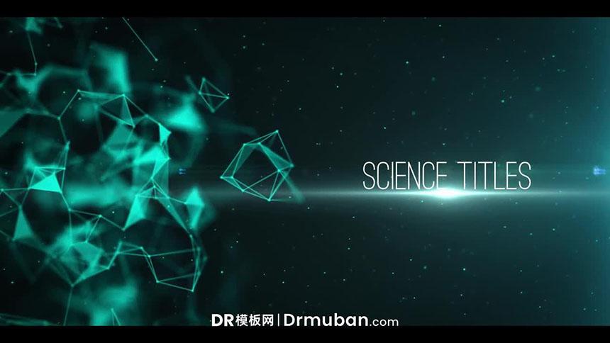 达芬奇模板 科幻电影神经丛动态预告片DR模板下载-DR模板网