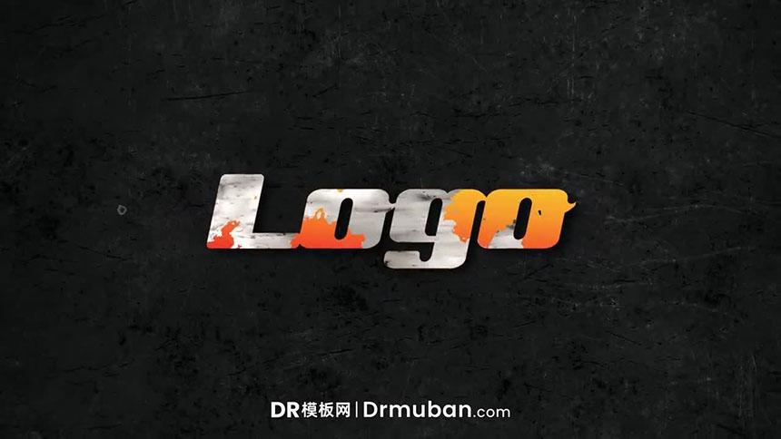 DR开场模板 暗黑短视频动态logo展示达芬奇模板下载
