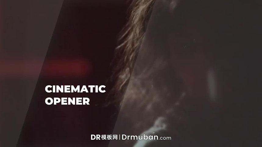 DR预告片模板 梦幻漏光效果电影开场视频达芬奇模板下载