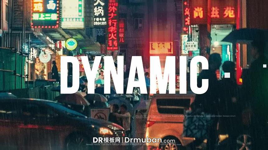 达芬奇模板 城市嘻哈短视频vlog开场视频DR模板下载-DR模板网
