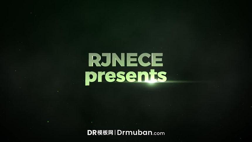 DR标题模板 炫酷飞行特效动态logo展示达芬奇模板下载