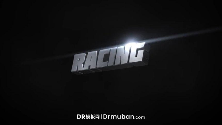 DR模板 3D金属动态全屏标题达芬奇模板免费下载