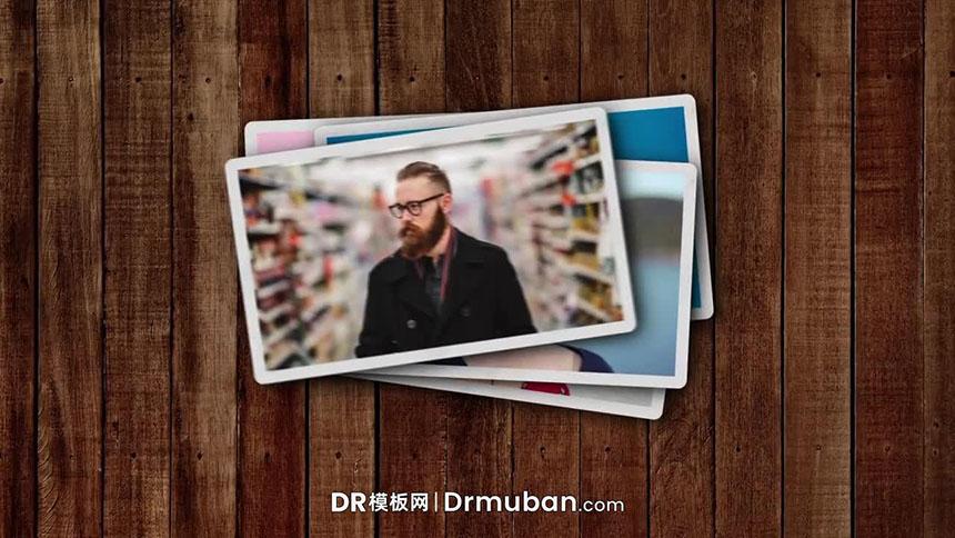 DR片头模板 快速照片展示动态logo达芬奇模板下载