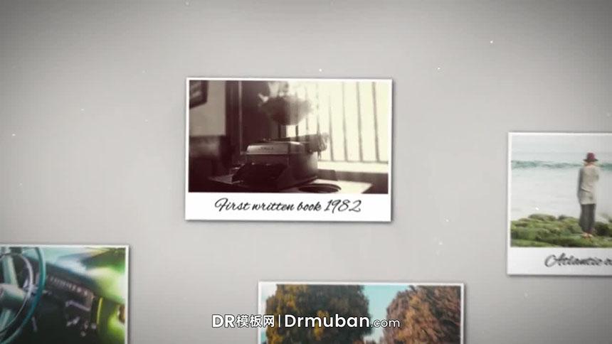 DR电子相册模板 照片墙动态图片展示达芬奇幻灯片模板下载