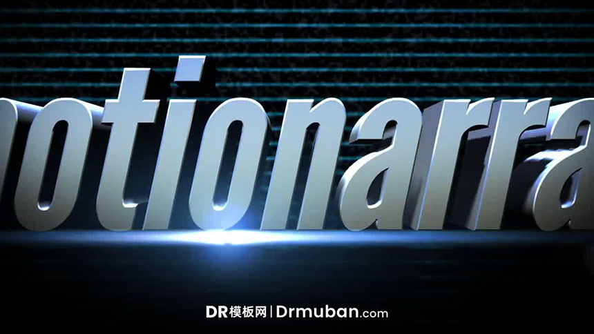 达芬奇模板 3D金属动态全屏大标题DR免费模板下载