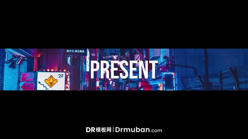 DR开场模板 时尚快节奏动态logo展示达芬奇模板免费下载