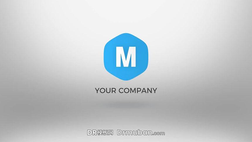 DR片头模板 简单几何图形动态企业logo展示达芬奇模板免费下载