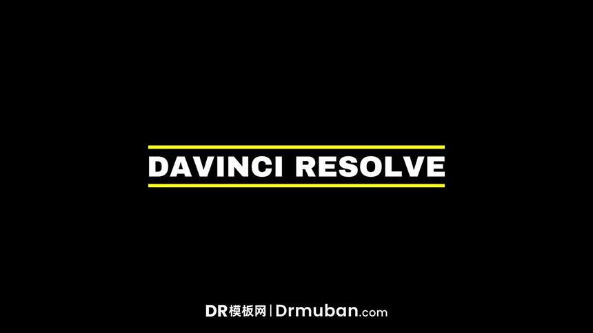 DR免费标题模板 简单实用动态全屏标题达芬奇模板下载