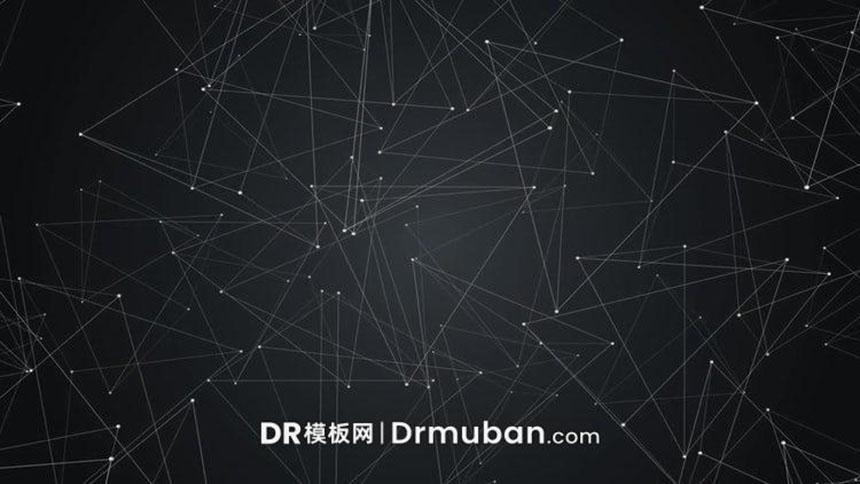 DR预设 达芬奇预设 可定制的3D动态背景点线粒子视频素材