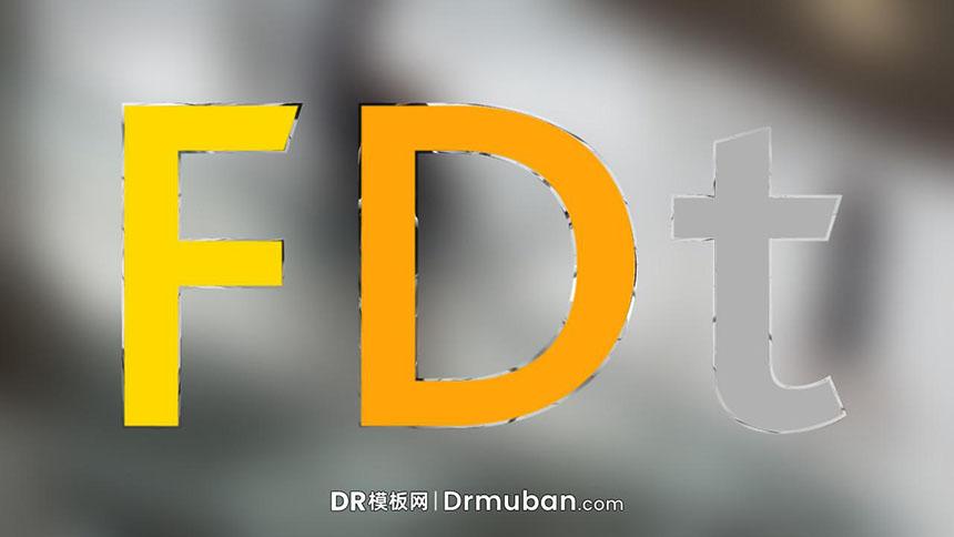 片头视频DR预设 玻璃镜面效果动态logo展示达芬奇预设下载-DR模板网