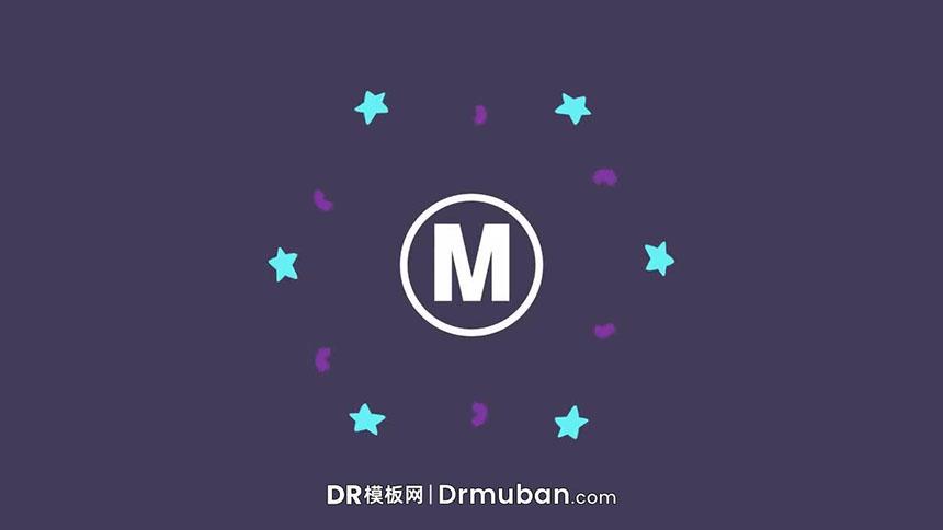 DR免费模板 创意卡通儿童节目手绘元素logo展示达芬奇模板下载-DR模板网