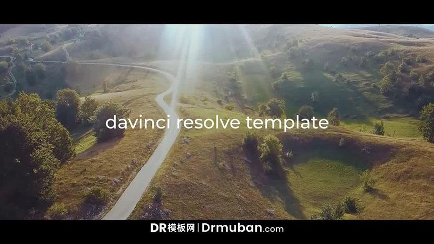 DR短视频模板 高级质感电影开场片头达芬奇模板下载