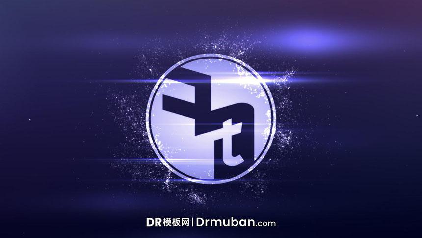 达芬奇片头预设 创意粒子闪烁效果动态logo展示DR预设下载