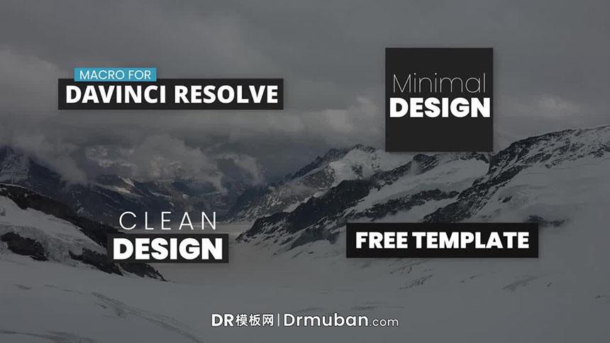 DR标题字幕预设 简单通用短视频标题免费预设下载