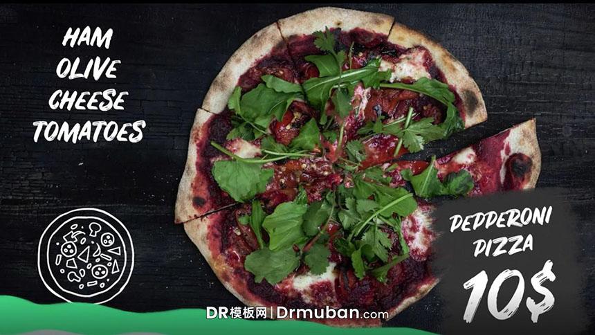DR广告促销模板 社交媒体快餐手绘素材达芬奇模板下载