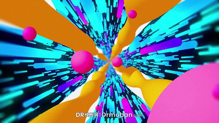 免费DR 模板 彩色变焦动态logo展示达芬奇模板下载