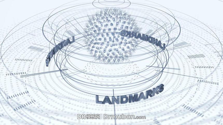 达芬奇视频预设 3D立体线条效果片头logo展示DR预设下载