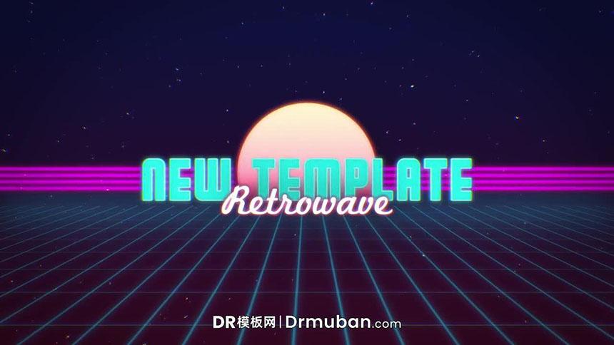 DR模板 80年代复古怀旧动态全屏标题达芬奇模板下载