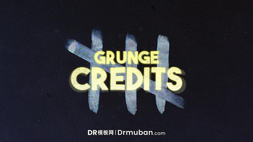 DR短视频模板 惊悚恐怖节目片头达芬奇模板下载-DR模板网