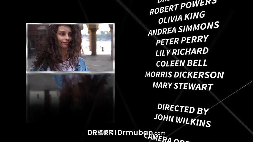DR模板 纪录片大电影片尾动态演职员表达芬奇模板下载-DR模板网