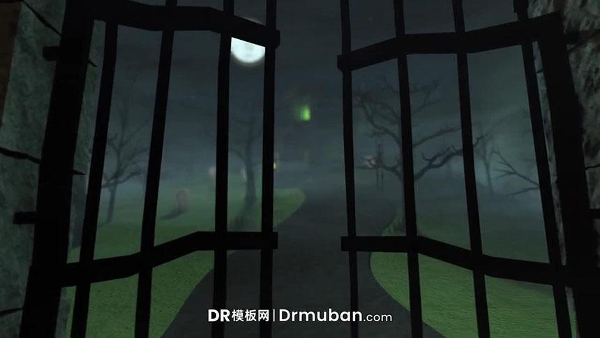 达芬奇模板 万圣节logo宣传视频片头DR模板下载