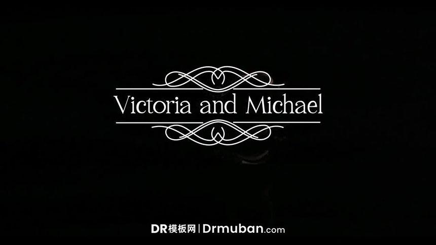 DR达芬奇预设 复古风格婚礼标题生长动画达芬奇预设
