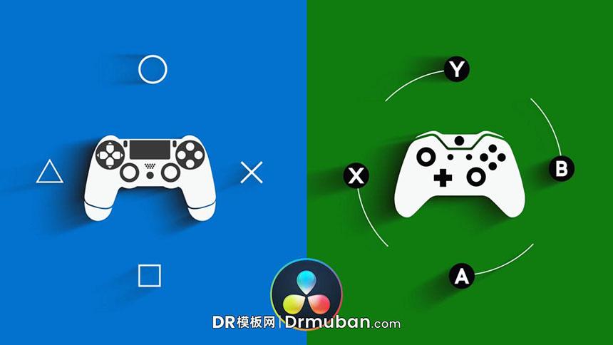 DR片头模板 游戏视频开场logo展示达芬奇模板-DR模板网
