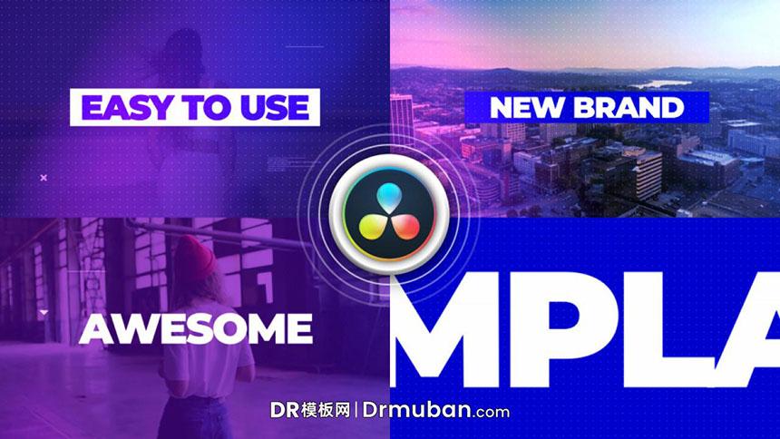 DR模板 现代时尚演唱会MV混剪达芬奇幻灯片模板-DR模板网