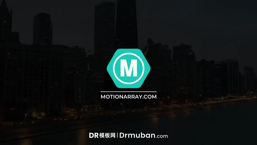 DR模板 简单通用动态logo展示达芬奇模板