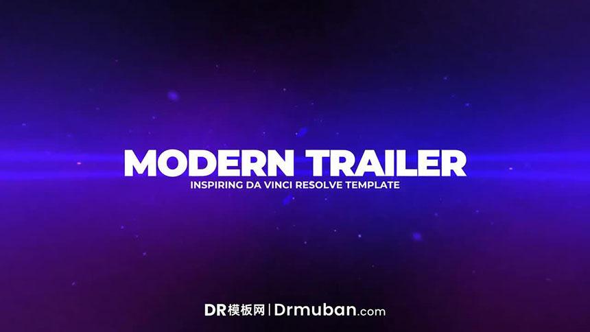 DR模板 现代电影预告片图文展示达芬奇模板下载-DR模板网
