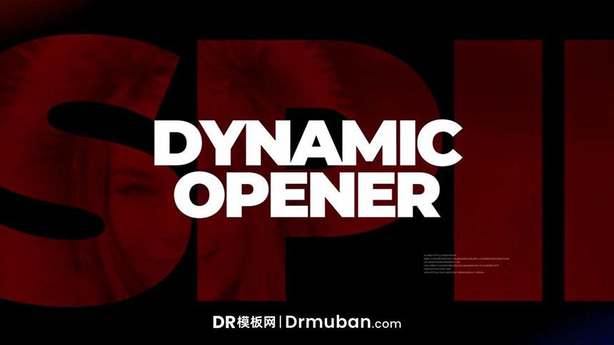 达芬奇模板 时尚写真走秀动态开场视频DR模板