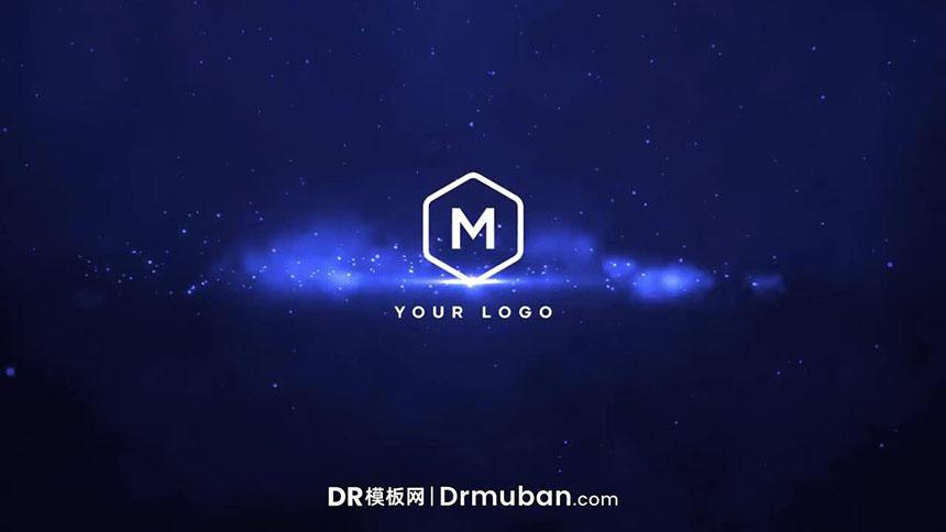 DR模板 史诗级星空萤火效果动态logo展示达芬奇模板-DR模板网