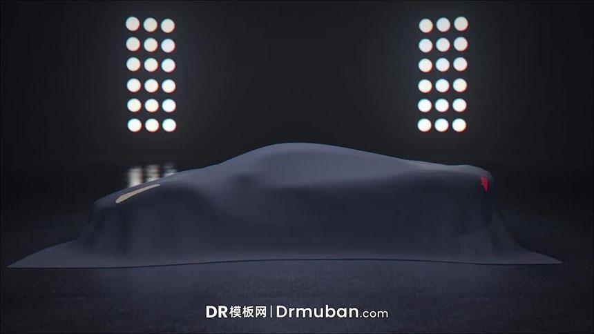 DR模板 高端车展揭幕动态汽车logo展示达芬奇模板