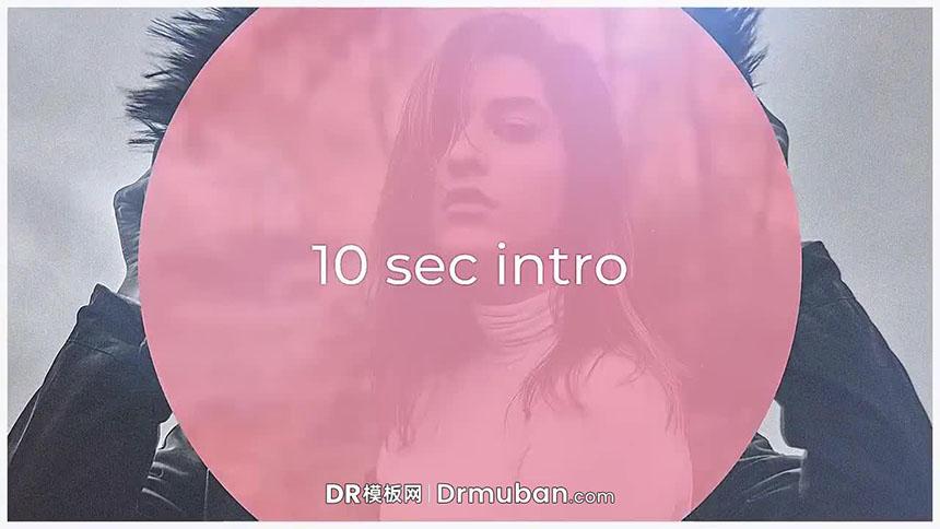 达芬奇模板 10秒个人社交账号介绍推广短视频DR模板-DR模板网