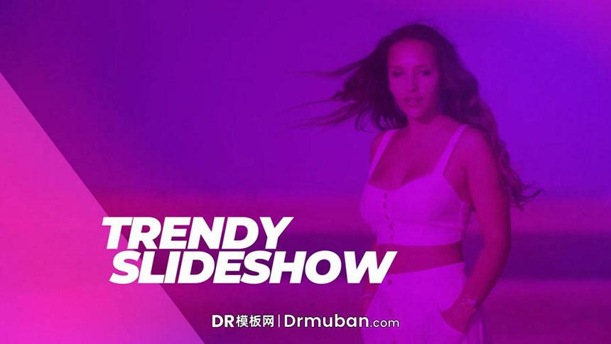 达芬奇模板 时尚电影宣传片人物介绍DR幻灯片模板