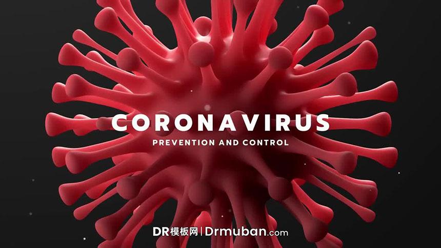 DR模板 冠状病毒防治宣传短片达芬奇模板下载