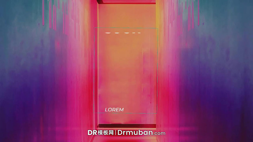 DR标题模板 时尚短视频必备动态全屏标题达芬奇模板