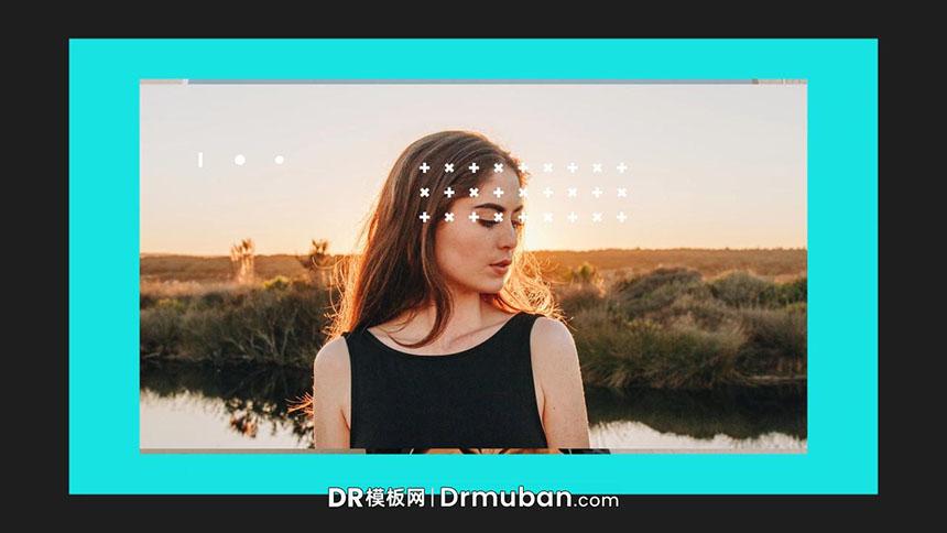 DR模板 个人账号推广动态照片logo展示达芬奇模板