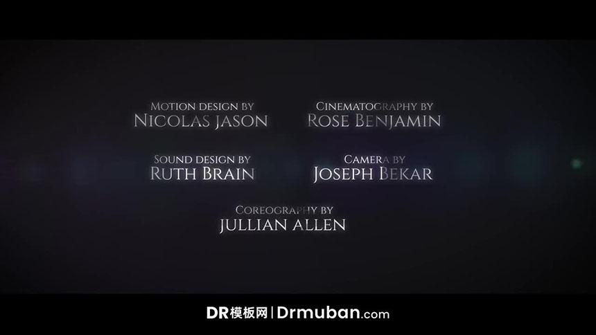 DR模板 电影级片尾演职员表动态字幕达芬奇模板