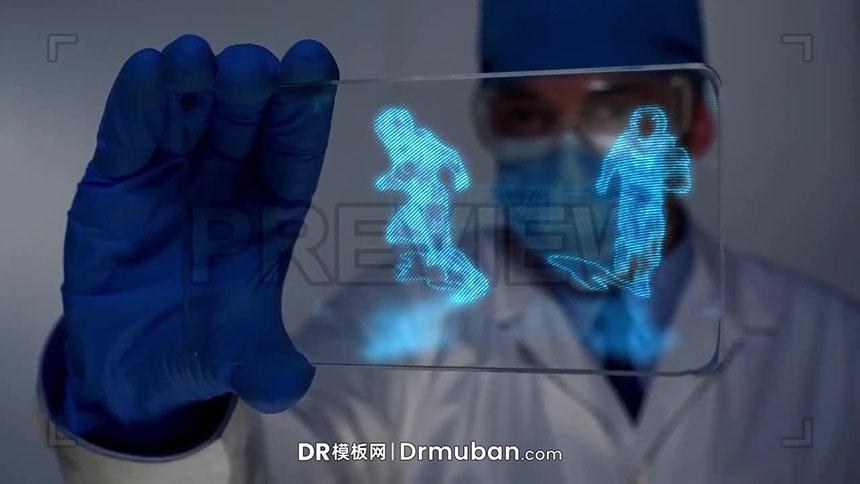 达芬奇预设 科技感全息投影logo展示开场视频DR预设