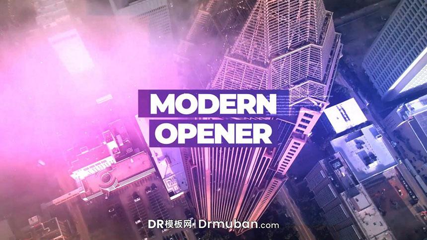 DR模板 现代城市短视频开场片头达芬奇模板下载