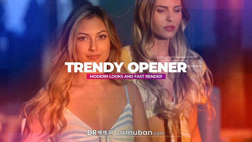 达芬奇模板 时尚走秀活动宣传短视频开场片头DR模板
