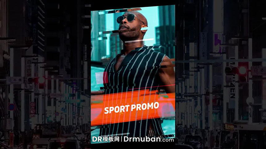 DR模板 朋友圈炫酷时尚潮服宣传广告达芬奇模板下载