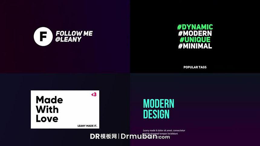 达芬奇预设 社交媒体短视频动态文字排版标题DR预设下载-DR模板网