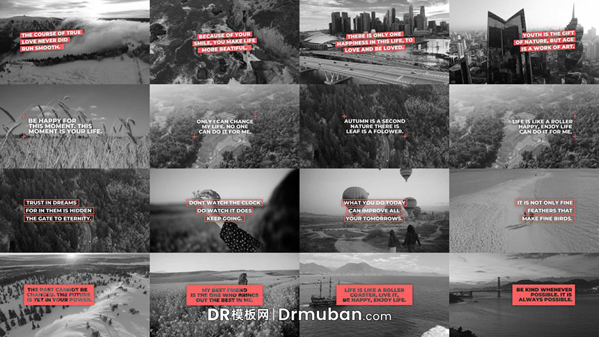 DR短视频模板 社交媒体视频创意图形排版达芬奇模板下载