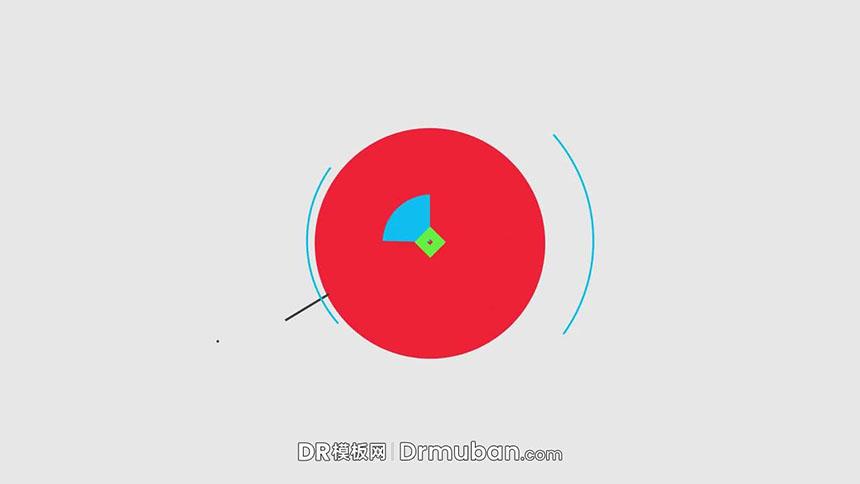 DR模板 简约图形创意动态logo展示达芬奇模板免费下载