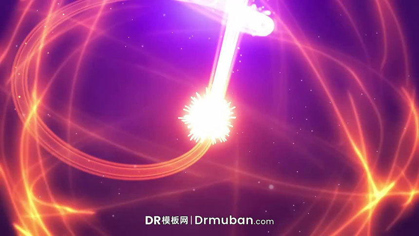 DR开场视频模板 粒子流对撞爆炸动态logo展示达芬奇模板下载