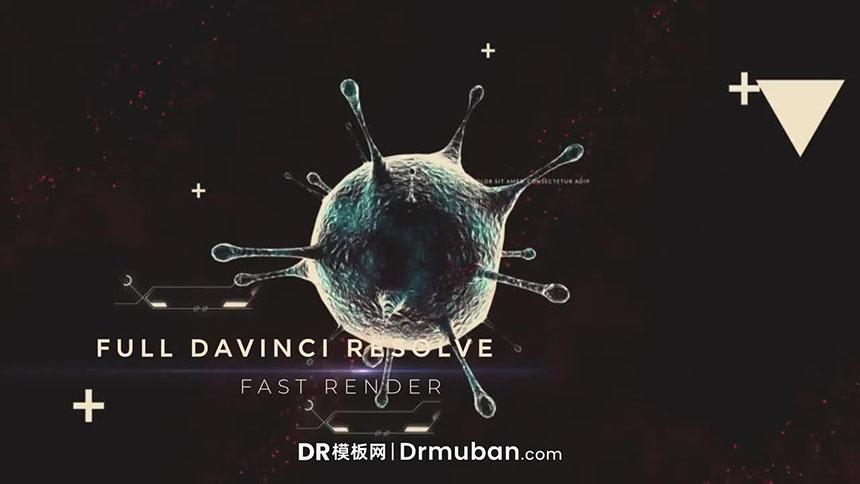 达芬奇模板 冠状病毒进化过程简介DR视频模板下载